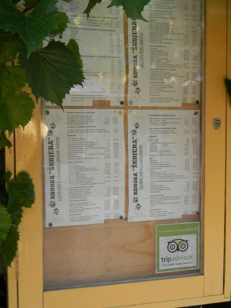 TripAdvisor recommended Konoba Skojera, Trpanj Croatia
