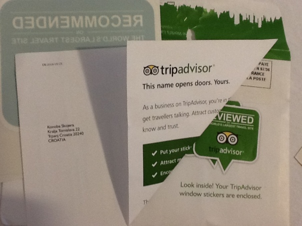Konoba Skojera TripAdvisor Recommended