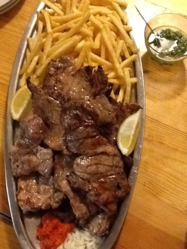 Stein Vidar Lie of Norway at Konoba Skojera grilled meat