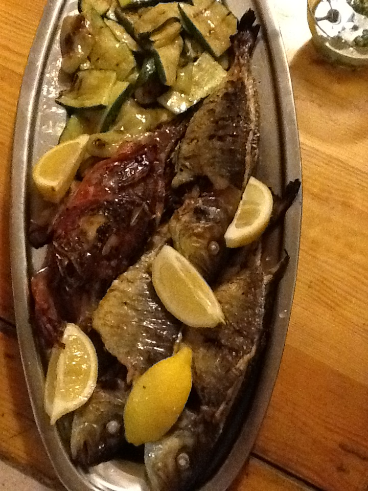 Stein Vidar Lie of Norway at Konoba Skojera grilled fish