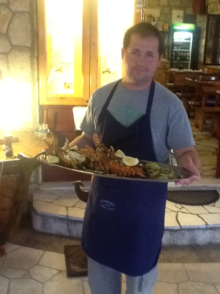 Adriatic Lobster for our guests from France Konoba Skojera Trpanj