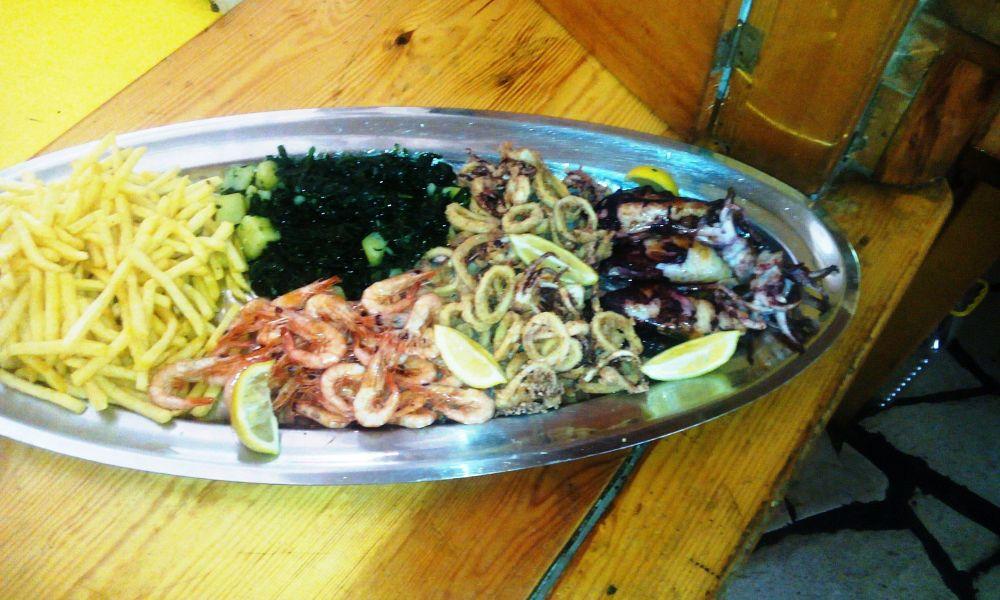 grilled fish calamari shrimp vegetables stari ribar konoba skojera