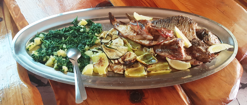 restaurant trpanj croatia grilled fish