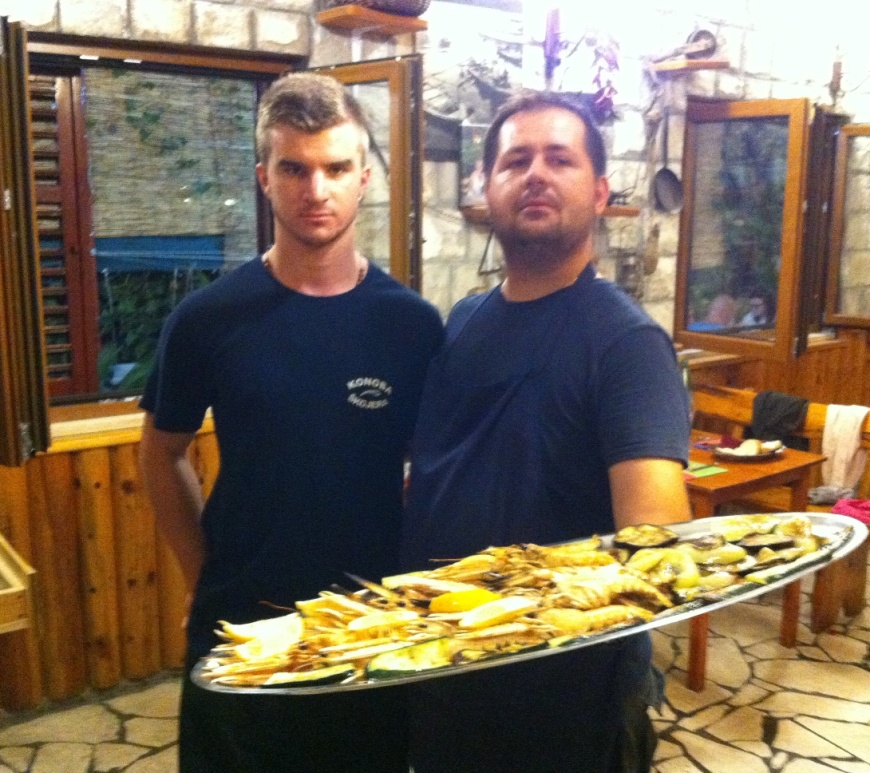 Goran Jovic proudly represents the best place to eat in trpanj