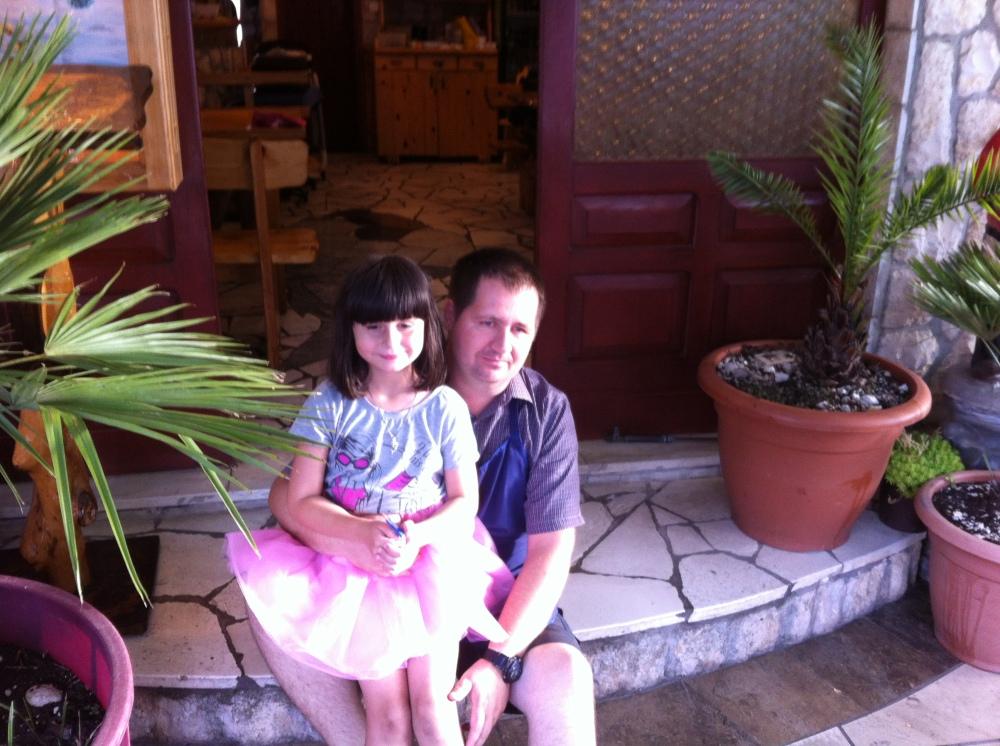 Goran Jovic the owner with his daughter Antonia