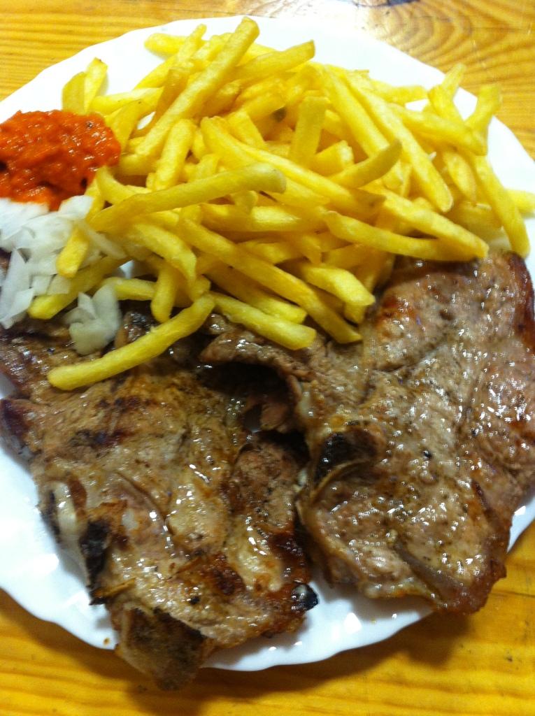 grilled veal chops trpanj