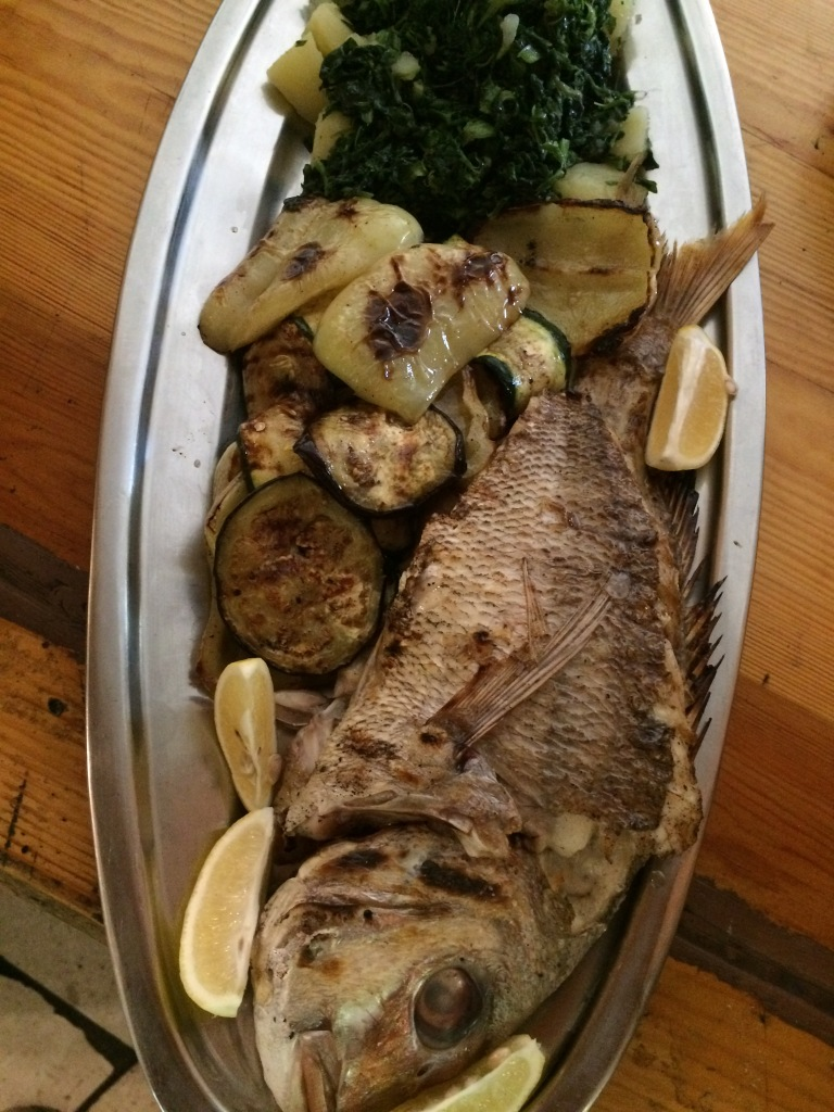 grilled red porgy