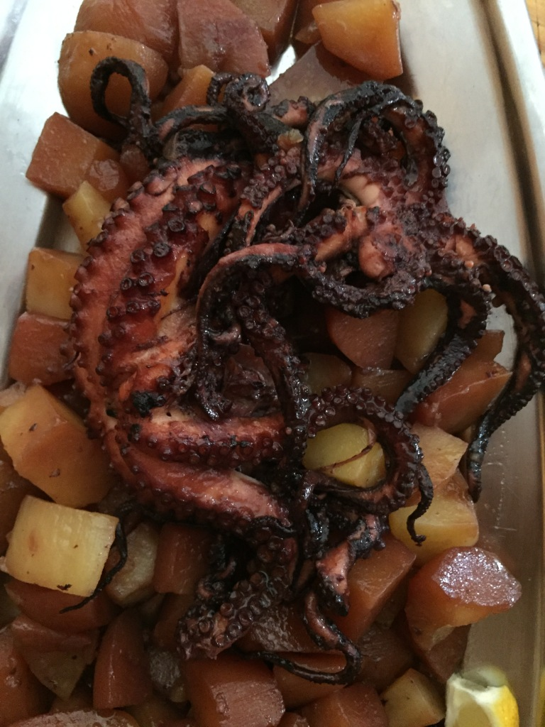 octopus and potatoes