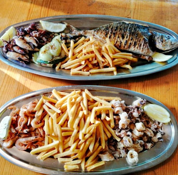 konoba skojera grilled fish Adriatic calamari and lamb