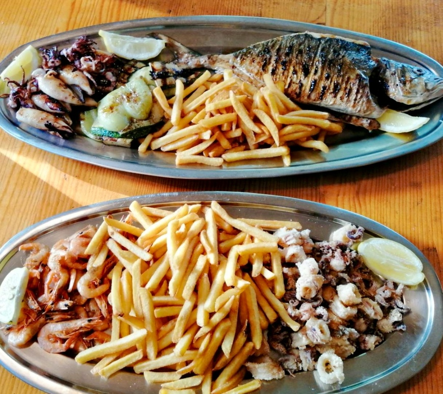 konoba skojera grilled fish Adriatic calamari and lamb